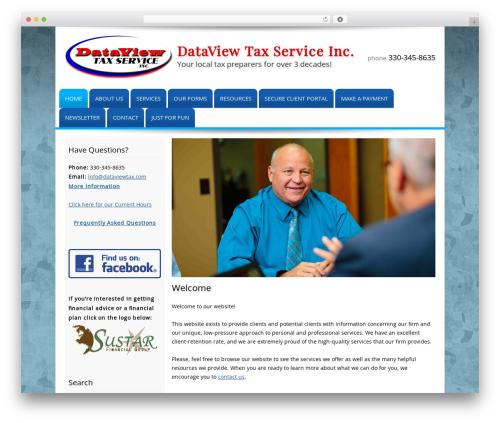 Customized WordPress website template - dataviewtax.com