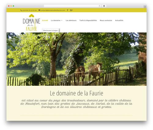 Divi WordPress theme - domainedelafaurie.com