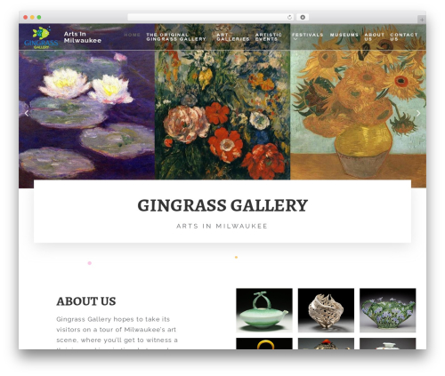 Fusion theme WordPress - gingrassgallery.com