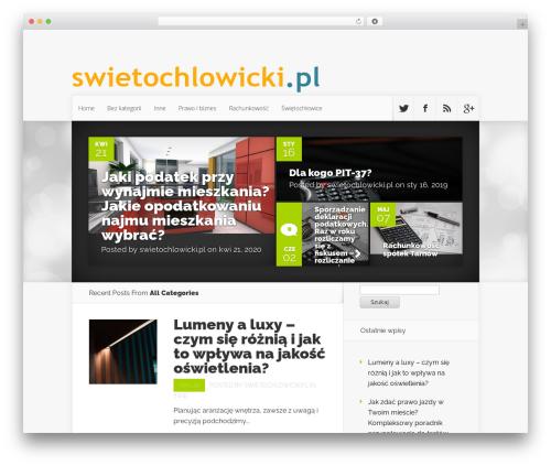 Nexus WordPress page template - swietochlowicki.pl