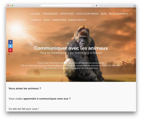 Pinnacle premium WordPress theme - communiquer-avec-les-animaux.com