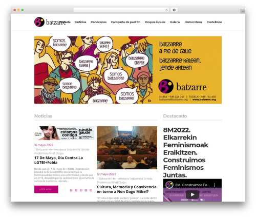 Pitch theme WordPress - batzarre.org