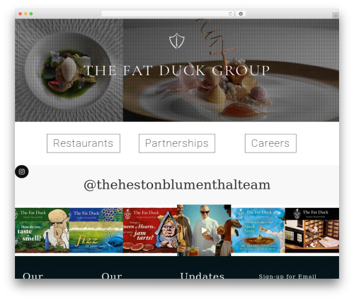 Salient WordPress theme - thefatduckgroup.com