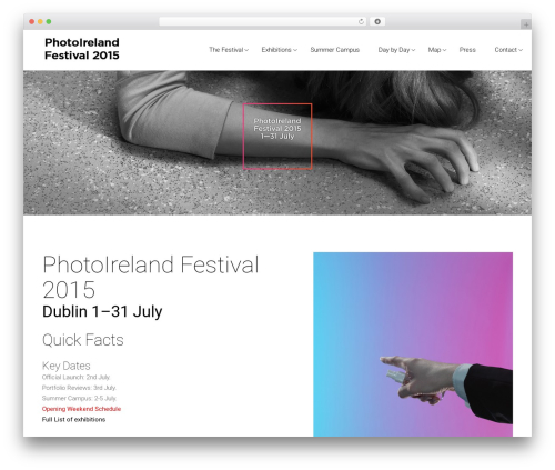 Satellite7 WordPress theme - 2015.photoireland.org