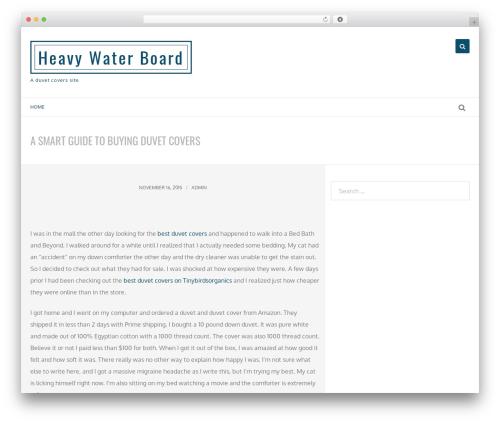 Savile Row free WordPress theme - heavywaterboard.org