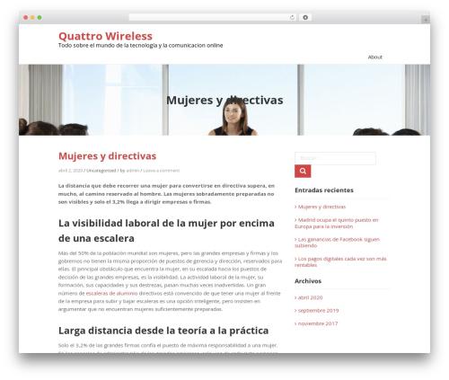 Teller free WP theme - quattrowireless.com