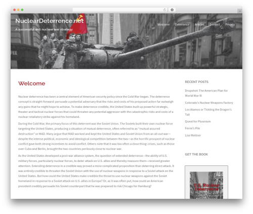 Template WordPress Sydney Pro Child - nucleardeterrence.net