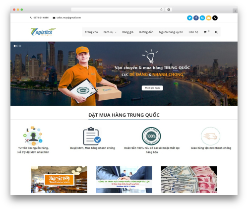 Total premium WordPress theme - dichvumuahangtrungquoc.com