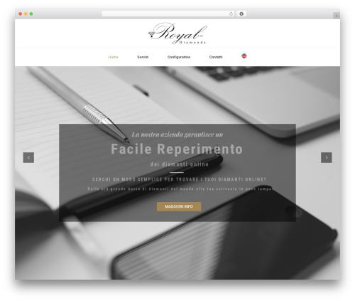 Veda WordPress theme - royaldiamondsltd.com