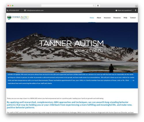 Veda WordPress theme - tannerautism.com