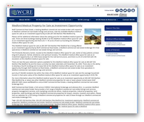 VLM medical WordPress theme - medfordmedicalspace.com