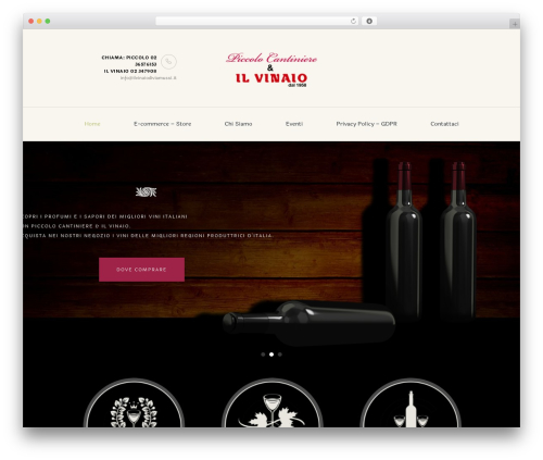 WineShop theme WordPress - piccolocantiniere.it