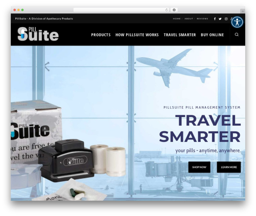 WordPress template Blade - pillsuite.com