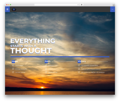 WordPress template LifeCoach - hopefaithvictory.com