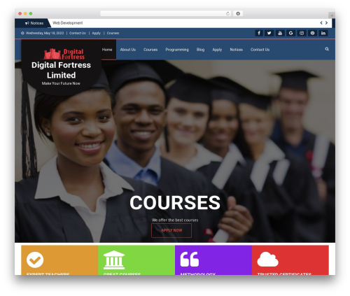 WordPress theme Education Master - digitalfortressltd.com