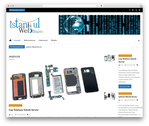 WordPress theme Ultra Seven - istanbulwebbilisim.com