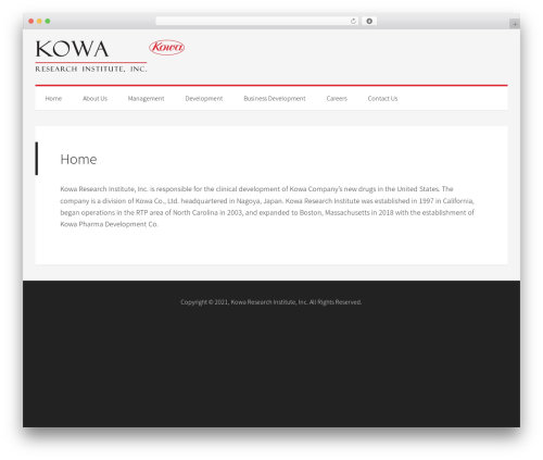 WordPress website template Generate Pro - kowaus.com