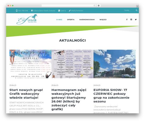 Zoomba WordPress theme - euforia-dancestudio.pl