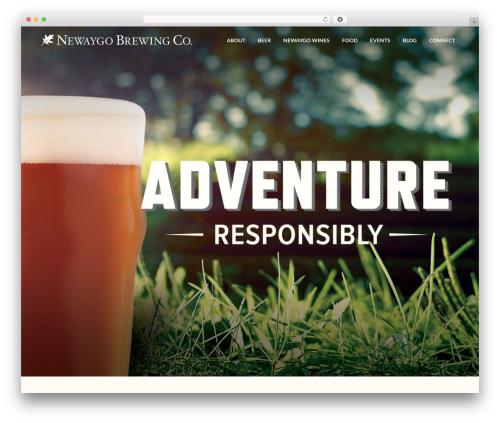 Aku WordPress theme - newaygobrewing.com
