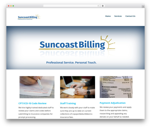 Best WordPress template Ascension - suncoastbilling.com