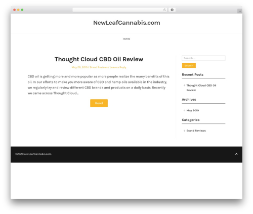 BlogFeedly WordPress blog template - newleafcannabis.com
