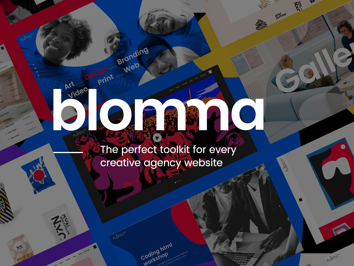 Blomma Child WordPress theme design