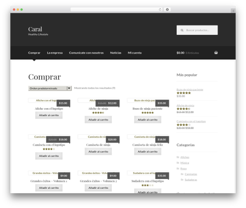 Boutique WordPress theme - thecaralgroup.com