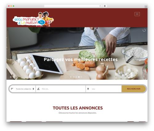 Classiera premium WordPress theme - viensmangeralamaison.fr