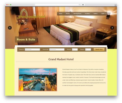 Divi best hotel WordPress theme - madanihotel.com