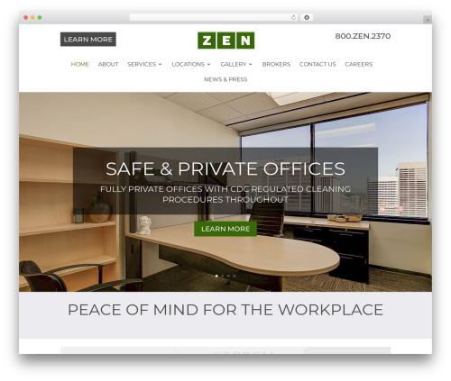 Divi template WordPress - zen-offices.com