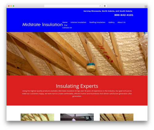 Divi theme WordPress - midstate-insulation.com
