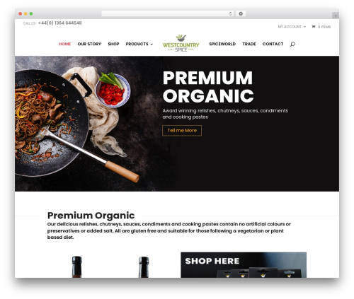 Divi theme WordPress - westcountryspice.com