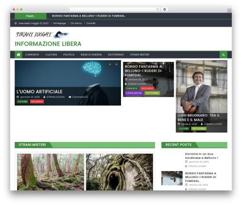 Eggnews free WordPress theme - straniluoghi.com
