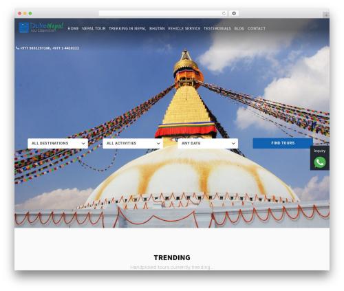 Entrada WordPress travel theme - dukenepal.com