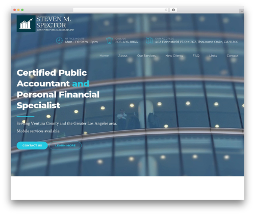 Finance WordPress template - spectorcpa.com