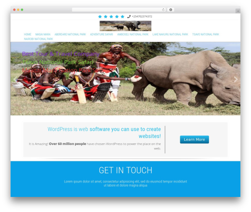 Innovation Extend WordPress theme - kenyatourpackage.com