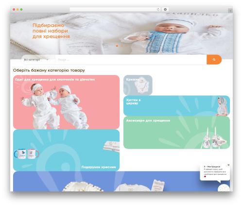 KuteShop WordPress theme - m-sonechko.com