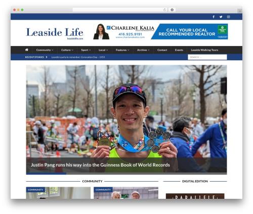 MH Magazine WordPress news theme - leasidelife.com