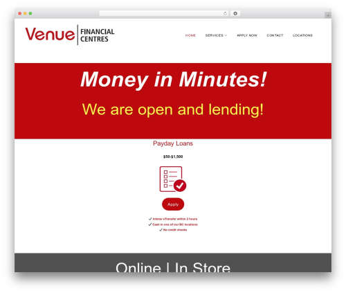 Monstroid2 Lite real estate WordPress theme - venuefinancial.com