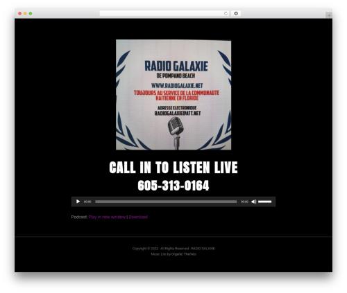 Music Lite WordPress theme - radiogalaxie.net
