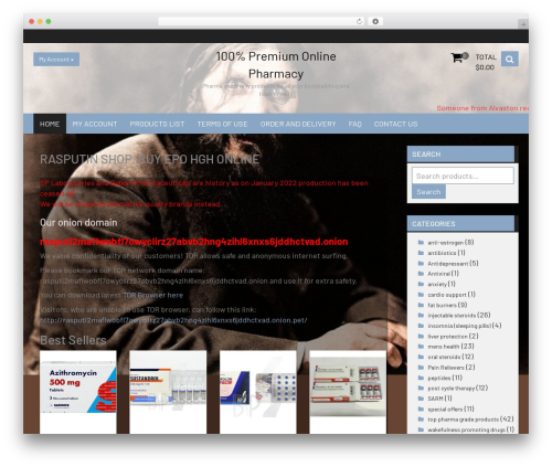Open Store WordPress store theme - rasputinshop.com