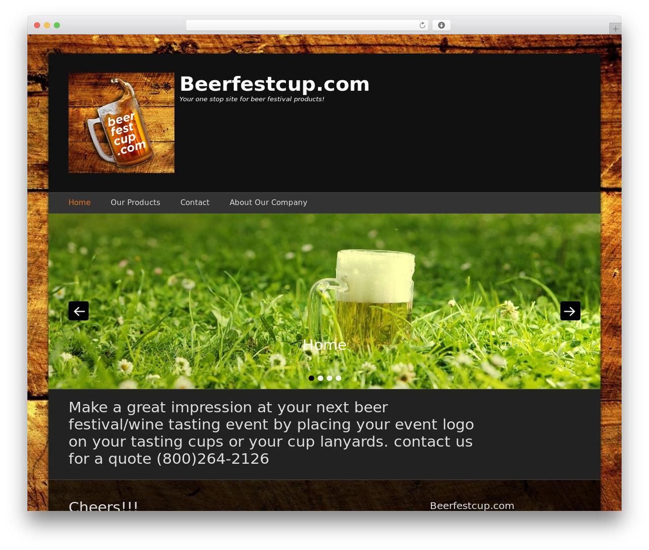 Template WordPress Catch Base Pro - beerfestcup.com