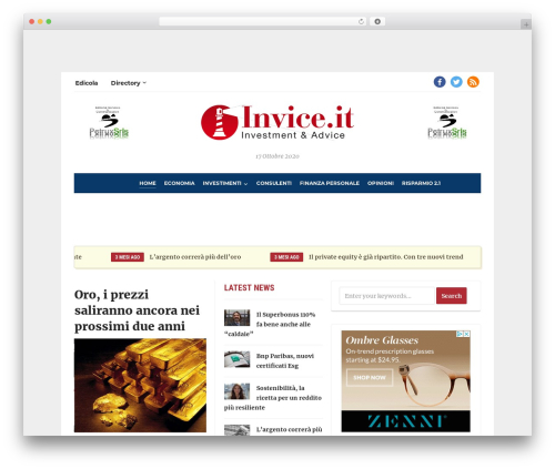 Template WordPress Tribune - invice.it
