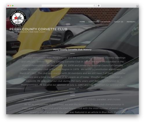 TheFour Lite WordPress website template - perrycountycorvetteclub.org