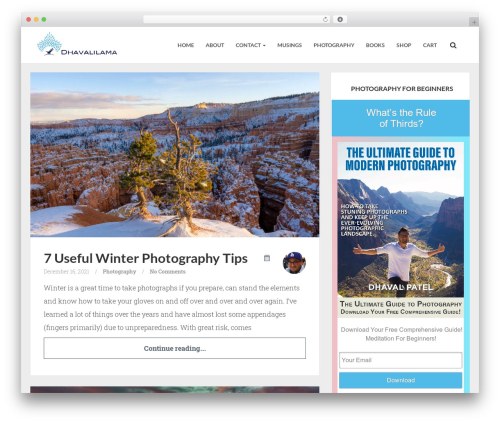 Theme WordPress Breeze by Bluthemes - dhavalilama.com