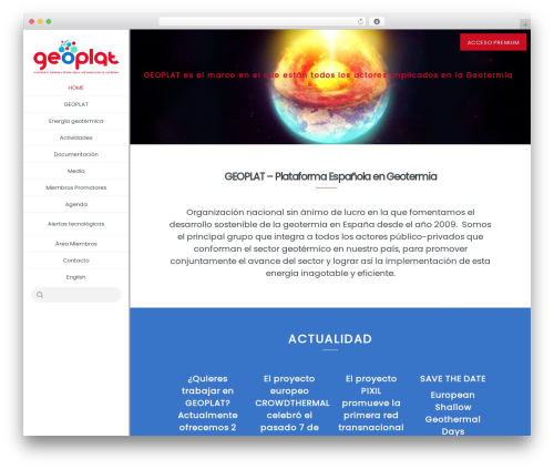 Theme WordPress Extent - geoplat.org