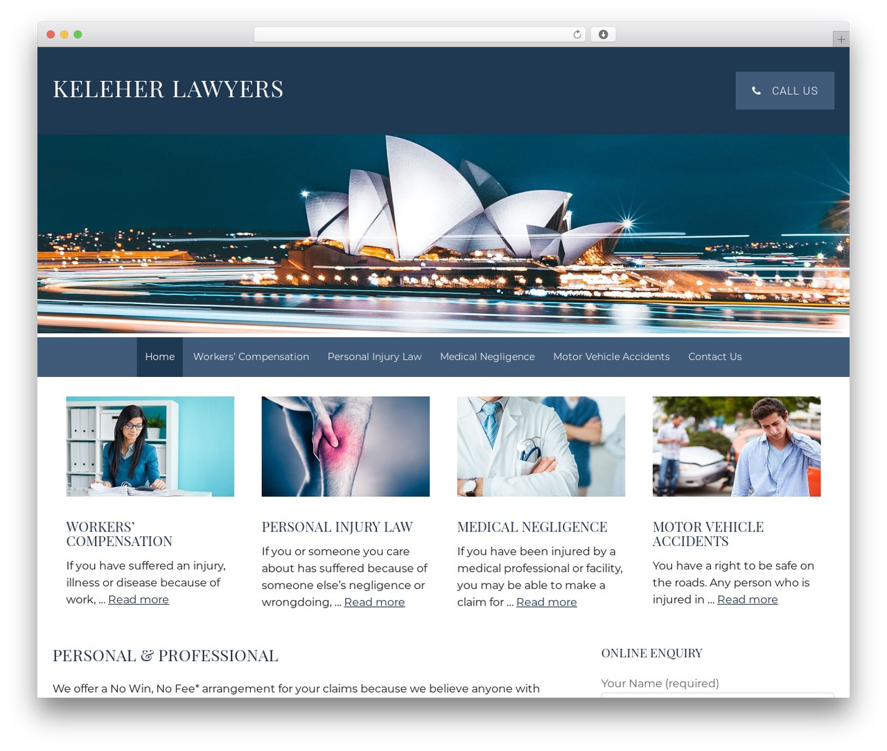 Theme WordPress Minimum Pro Child 001 - keleherlawyers.com