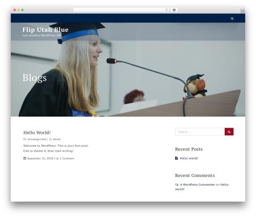 Uni Education WP template - fliputahblue.com