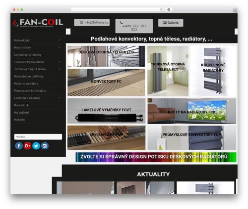 verticalmenu free WP theme - fan-coils.com