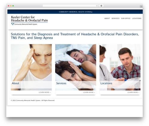 WordPress template Health-Center-Pro - keelercenterforpain.org